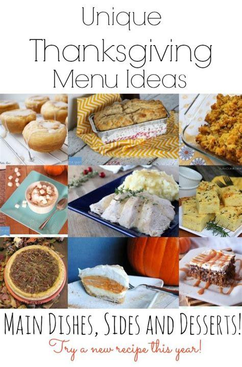thanksgiving day menu ideas unique thanksgiving menu ideas