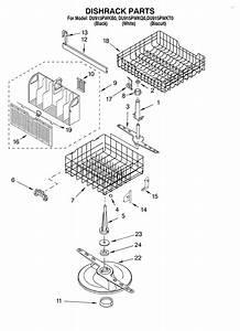 Dishrack Diagram  U0026 Parts List For Model Du915pwkq0