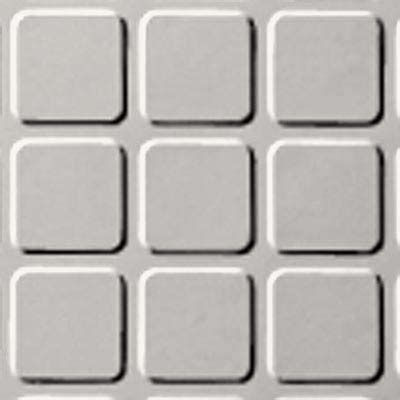 Roppe Rubber Tile 994 by Roppe Raised Design Raised Square Design White