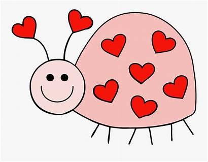 Bug Clipart Clip Ladybug Heart Birthday Many