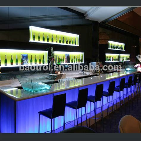 bar counter materials commercial bar counter luxury modern design bar furniture view led night club table baotrol