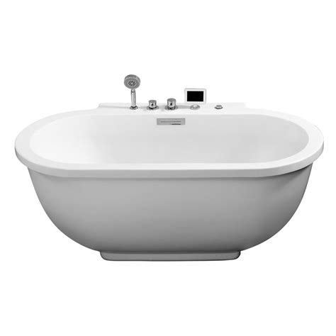 ariel 6 ft whirlpool tub in white am128jdclz the home depot