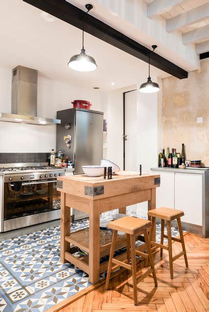 cuisine bordelaise échoppe bordelaise surélevée industriel cuisine