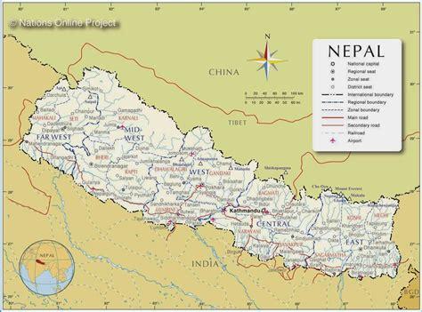 political maps  nepal  printable maps