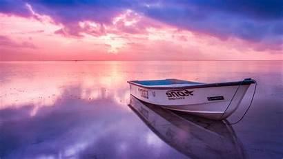 Sunrise Desktop Wallpapers 4k Boat Sky Pink