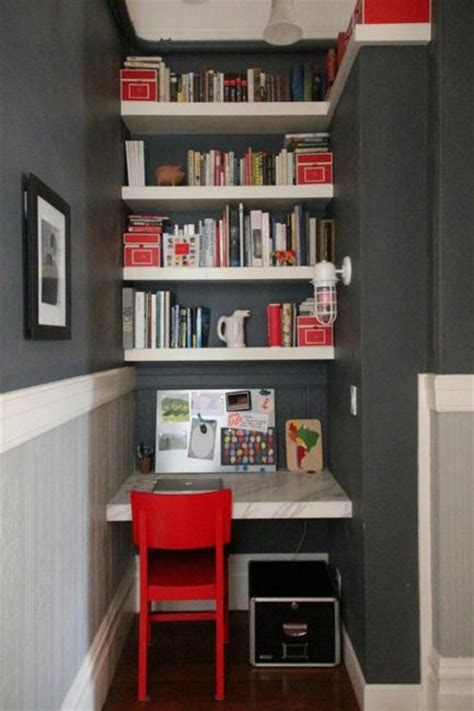 space saving ideas  small home office storage