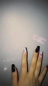 lil peep inspired nails edgy nails nails