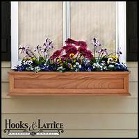 flower boxes for windows Wooden Window Boxes, Wooden Flower Box, Wood Window Boxes | Hooks & Lattice