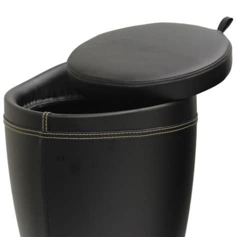 faux leather storage ottoman stool box tub barrel