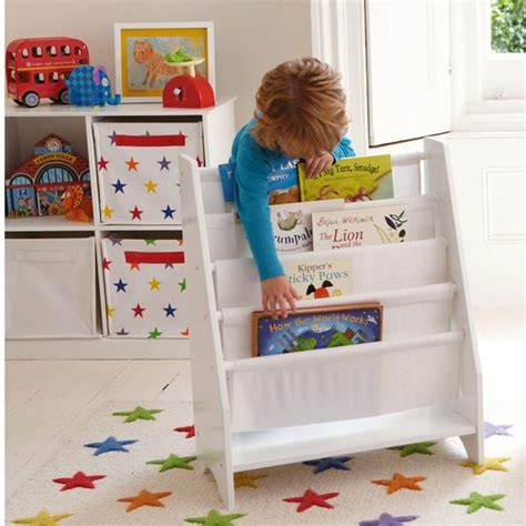 Childrens Bookcase Sling by Sling Bookcase With Plain White Canvas Bookcases