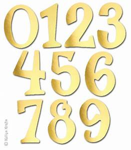 Mixed Number Die Cuts, Gold Mirror Card (Pack of 10) - £0