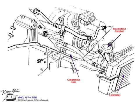 1986 Corvette Smog Diagram by 1986 Corvette Air Conditioning System Parts Parts