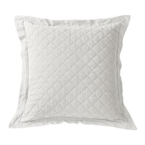 european pillow shams linen quilt sham 1 vintage white