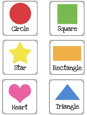 preschool colors and shapes shapes flash cards printable for preschoolers printable 129