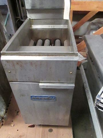 imperial single vat commercial gas burner deep fryer