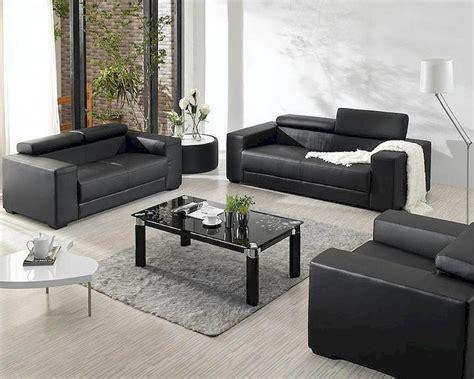 Black Leather Sofa Set Price by Black Bonded Leather Sofa Set 44l2909
