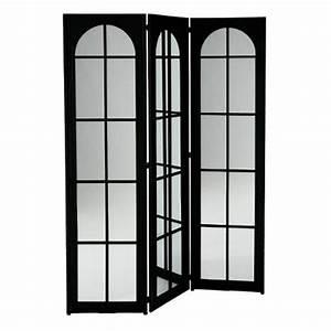 Miroir 180 Cm : paravent miroir industriel 180cm noir ~ Teatrodelosmanantiales.com Idées de Décoration