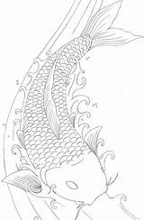 Pages Koi Fish Coloring Tattoo Drawings Dragon Drawing Japanese Printable Coy Adults Carp Colouring Outline Adult Sheet Books Element Designs sketch template