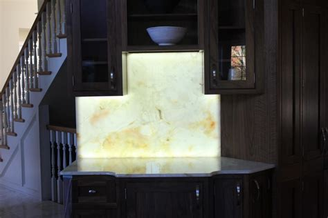 chandler construction backlit stone sample materials