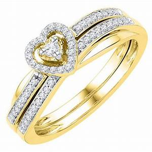 Diamond engagement promise halo ring heart shape wedding for Promise engagement wedding ring set
