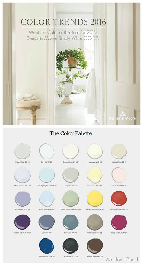 benjamin color of the year 2016 simply white color