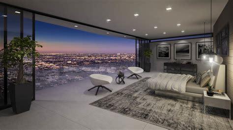 Industrial Kitchen Design Ideas - luxury bedroom with amazing view interior design ideas