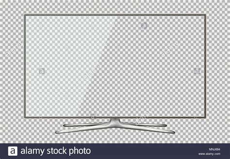 tv vector template realistic tv screen smart tv mockup blank television