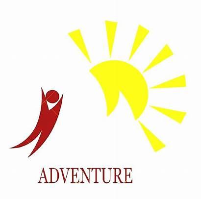 Adventure Sun Mountain Clip Clipart Cliparts Map