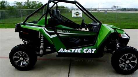 2012 Arctic Cat Wildcat Arctic Green Metallic 1000 Ho