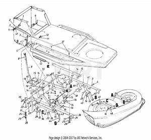 Mtd 13am47gf062  1998  Parts Diagram For Deck Lift  U0026 Hanger
