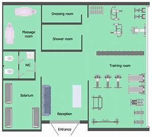 Gym and Spa Area Plans Solution | ConceptDraw.com