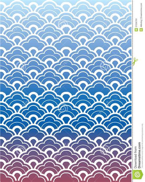 papier peint de vague de japonais image stock image