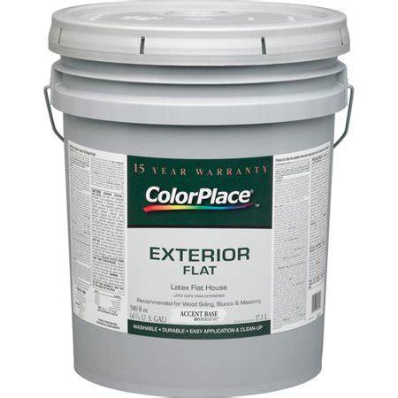 colorplace exterior flat accent paint base walmart