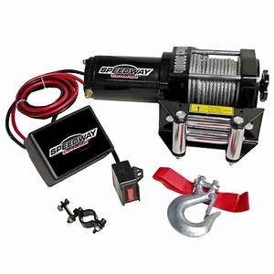 Speedway Start To Finish 3000 Lb 12 Volt Winch With Roller