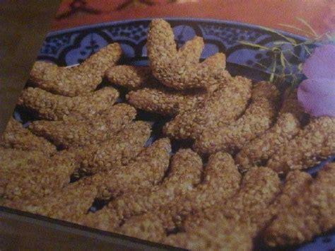anaqamaghribia cuisine marocaine حلوة الهلال بالسمسم الجنجلان cuisine marocaine