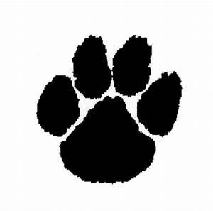 tiger paw stencil clipartsco With tiger paw template