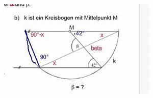 Strahlensätze Berechnen : geometrie beta gesucht winkel in kreisbogen berechnen mathelounge ~ Themetempest.com Abrechnung