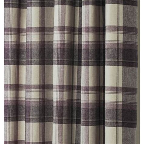 curtina belvedere check eyelet readymade curtains plum