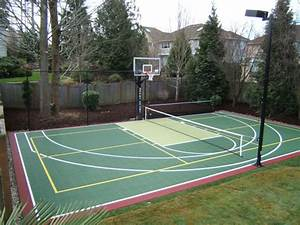 pickleball courts allsport america inc With outdoor lighting for backyard sports