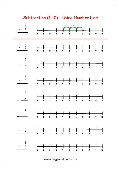 subtraction  number  maths worksheets