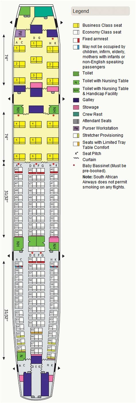 SOUTH AFRICAN AIRWAYS Airlines Aircraft Seatmaps Airline