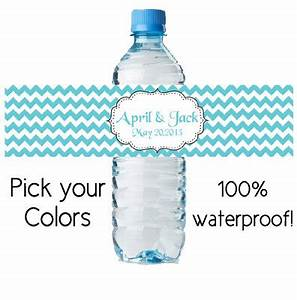 custom water bottle sticker personalized by digitaldoodlebug With custom bottles and labels