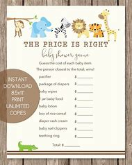 Best Price Is Right Baby Shower Game Ideas And Images On Bing