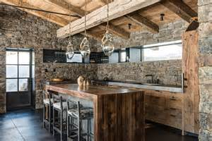 cabin kitchens kitchen rustic with hewn wood log