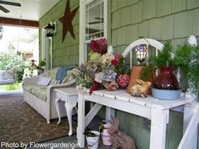 Porch Decorations by Decorating With Flowers Front Porch Decorating Porch