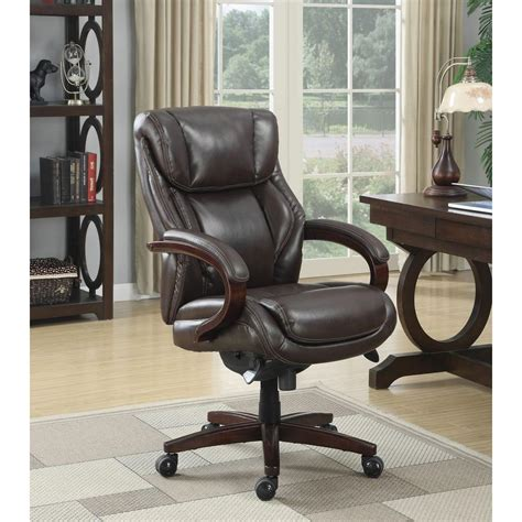 la z boy bellamy coffee brown bonded leather executive