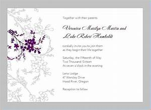 11 free printable wedding invitation templates for word for Free printable wording for wedding invitations