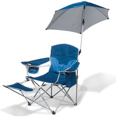 Cing Chair With Footrest And Umbrella by Brella Chair Is The Only Folding Chair You Ll Need