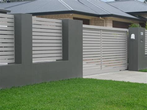 modern brick fence designs steel vs aluminium fencing pros cons