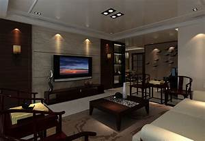 TV on wall in living room | Download 3D House